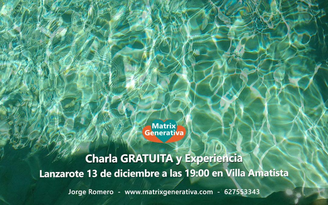 Charla Gratuita y Experiencia Diciembre 2019